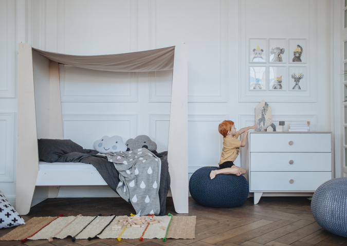 кровать-домик М (белый)