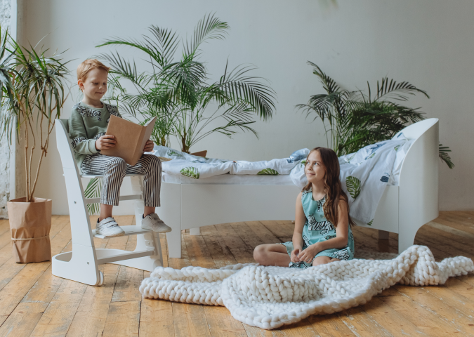 кровать подростковая kids (белый)